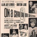 On a Clear Day You Can See Forever Original Broadway Cast. Music By Burton Lane, Lyrics By Alan Jay Lerner - 454 x 625