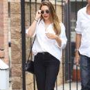 Elizabeth Olsen in Black Pants – Out in Studio City
