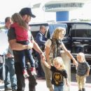 Chris Hemsworth and His Family Arrive at LAX