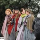 Emma Watson, Saoirse Ronan, Florence Pugh and Eliza Scanlen – Filming 'Little Women' Set in Cambridge