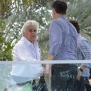 Jay Leno spotted out with friends at the Fontainebleau Hotel in Miami, Florida on January 21, 2015 - 454 x 587