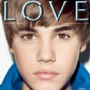 Justin Bieber on the cover of 'Love'