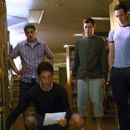 Jason Biggs, Thomas Ian Nicholas, Eddie Kaye Thomas and Chris Klein in Universal's American Pie 2 - 2001