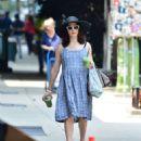 Rachel Weisz in Blue Dress – Out in New York - 454 x 535