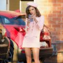 Alessandra Ambrosio in Pink Short Dress – On a photoshoot in Los Angeles - 454 x 681