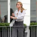 Billie Piper Almost Oooppss On The Set Of Her New Film - Aug 2 2007