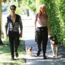 Emma Slater – Walking her dogs in Los Angeles - 454 x 303