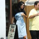 Kendall Jenner in a baby blue dress in Los Angeles