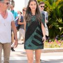 Fresh-faced Barbara Palvin flaunts her leggy figure in two thigh-skimming dresses and towering heels as she steps out in Cannes - 454 x 681