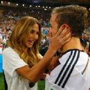 Mario Götze and Ann-Kathrin Kiss World Cup Final 2014 - 454 x 332