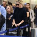 Charlize Theron at LAX International Airport in LA