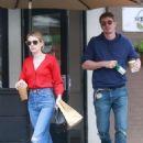 Emma Roberts and Garrett Hedlund – Leaves Stamp Proper Foods in Los Feliz