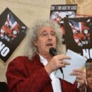 Brian May leads an anti-fox hunting rally for PETA on July 14, 2015 in London, England. - 454 x 304