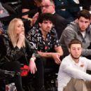 Sophie Turner, Joe and Nick Jonas – Phoenix Suns v New York Knicks Game in New York City