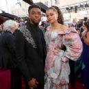 Chadwick Boseman and Andra Day At The 90th Annual Academy Awards - Arrivals (2018) - 454 x 303