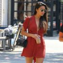 Shay Mitchell – In Red Dress out and about in NYC - 454 x 769
