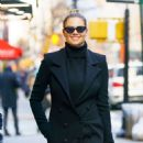 Kate Upton in Black Outfit out in New York