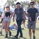 Richie Sambora and Ava Sambora at Day 3 of first weekend of The Coachella Valley Music and Arts Festival in Coachella, California on April 11, 2015 - 454 x 493