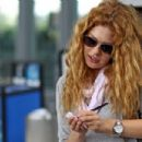 Rachelle Lefevre Arrives at Pearson International Airport