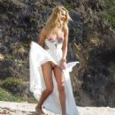 Rosie Huntington Whiteley Photoshoot At A Beach In Malibu