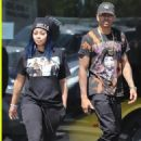 Blac Chyna and Mechie at a Car Dealership in Calabasas, California - August 28, 2017
