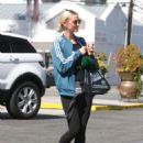Ashlee Simpson in Tights out in LA