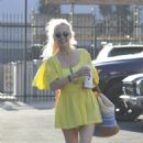 Anne Heche – In short summer dress at the DWTS rehearsal studio in Hollywood