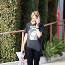 Lara Bingle in Tights out in LA - 454 x 681