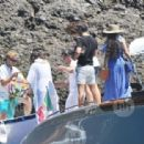 Vanessa Hudgens and Austin Butler mingled with model Luciana Gimenez Morad and her son Lucas Jagger in Portofino, Italy - 19 June 2016 - 454 x 312