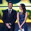 Corey Monteith and Emmy Rossum At The 18th Annual Critics' Choice Movie Awards - Show (2013) - 454 x 643