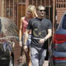 Chelsea Kane and Mark Ballas was spotted leaving the Dancing With The Stars dance studio today, April 28.