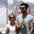 Brittany Snow and her boyfriend at Farmer's Market in Studio City