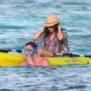 Channing Tatum and his pregnant wife Jenna Dewan-Tatum enjoy their New Year's holiday by relaxing on the beach of St. Bart's