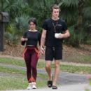 Camila Cabello in Leggings and Tight Top in Miami
