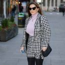 Kelly Brook – outside Heart Radio in London