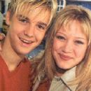 Aaron Carter and girlfriend Hilary Duff