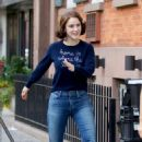Rachel Brosnahan – 'The Marvelous Mrs. Maisel' Filming Rehearsals in Chelsea, New York - 454 x 719