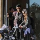 Jordana Brewster with her son Andrew in Los Angeles January 28, 2017 - 454 x 610