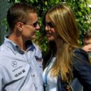 David Coulthard and his lovely girlfriend at Canadian GP in Jun 10, 2001 - 454 x 268
