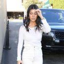 Kourtney Kardashian in White – Out in Los Angeles