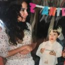 Luciana Gimenez with her little son Lucas Jagger celebrating her 34th birthday - São Paulo, Brazil - 10 November 2003 - 454 x 454