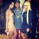 Blac Chyna and Tyga Attend Draya's Birthday Party  in Los Angeles - January 26, 2013