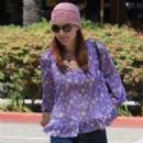 Marcia Cross out for lunch at La Scala in Beverly Hills