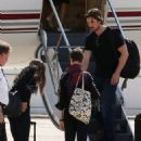 Christian Bale, Anne Hathaway and Joseph Gordon-Levitt spotted leaving Paris after