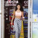 Michelle Keegan in Sports Bra and Leggings in Essex - 454 x 580