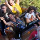 Sarah Hyland with Wells Adams Celebrates her birthday at Disneyland in Anaheim