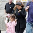 "Salma Hayek: arrives on the set of ""Grown Ups 2"" in Boston"