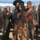 Elizabeth Swann, Captain Barbossa, Tia Dalma, and Ragetti