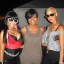 Amber Rose and Nicki Minaj Backstage at The America's Most Wanted Tour in Scranton, Pennsylvania - July 28, 2009 - 454 x 346