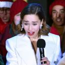 Emilia Clarke – Covent Garden Christmas Lights Switch on and Sing Along in London